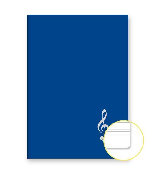 Zošit 428 • 20 listový • notová osnova • HUSĽOVÝ KLÚČ