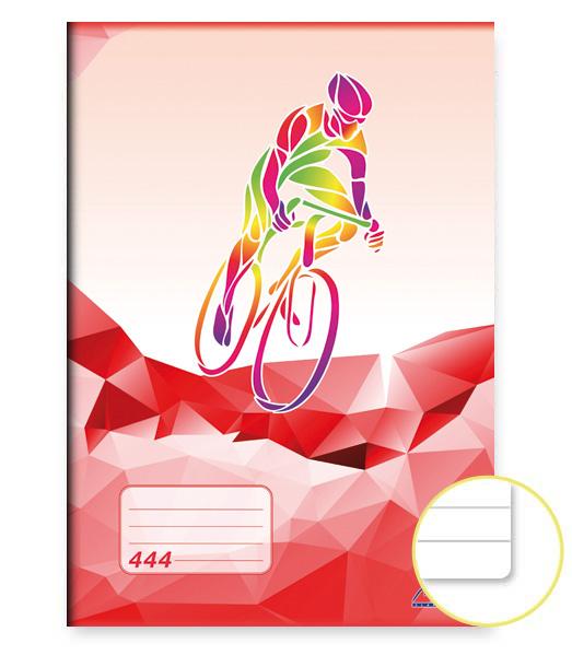 Zošit 444 • 40 listový • linkovaný 8 mm • ŠPORT Cyklistika červený