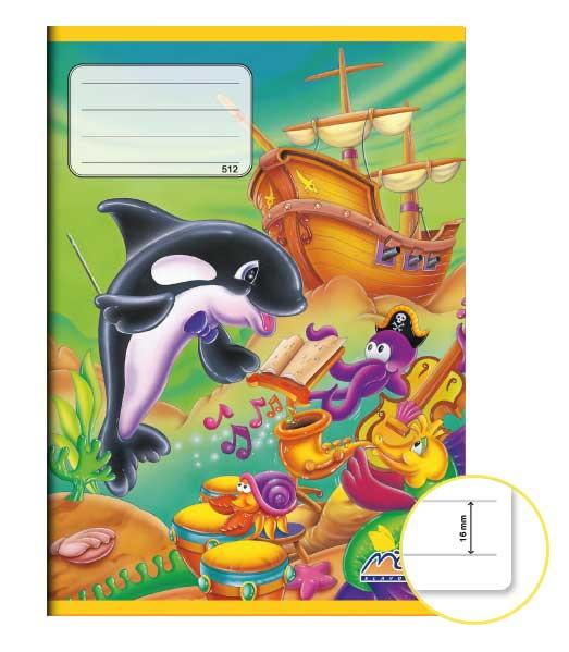 Zošit 512 EXTRA • 10 listový • linkovaný 16 mm • Kosatka