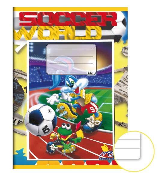 Zošit 523 EXTRA• 20 listový • linkovaný 12 mm • Fotbal