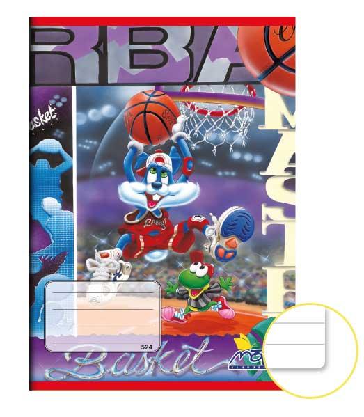 Zošit 524 EXTRA • 20 listový • linkovaný 8 mm • Basketbal