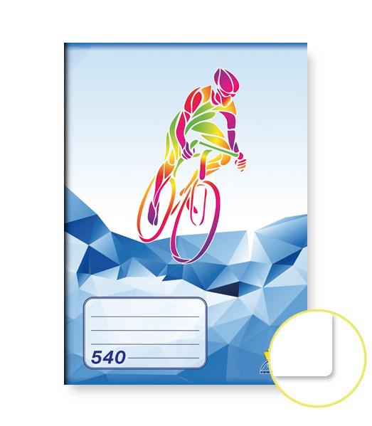Zošit 540 • 40 listový • nelinkovaný • ŠPORT Cyklistika modrý