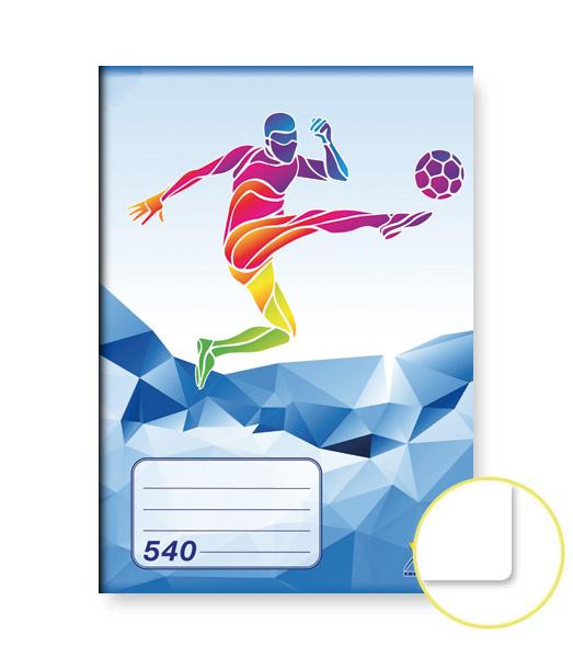Zošit 540 • 40 listový • nelinkovaný • ŠPORT Futbal modrý