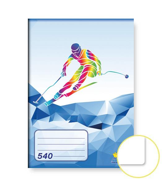Zošit 540 • 40 listový • nelinkovaný • ŠPORT Lyžovanie modrý