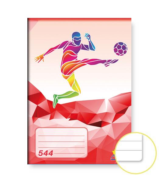Zošit 544 • 40 listový • linkovaný 8 mm • ŠPORT Futbal červený
