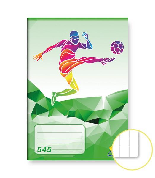 Zošit 545 • 40 listový • štvorčekovaný 5×5 mm • ŠPORT Futbal zelený