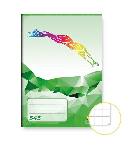 Zošit 545 • 40 listový • štvorčekovaný 5×5 mm • ŠPORT Plávanie zelený
