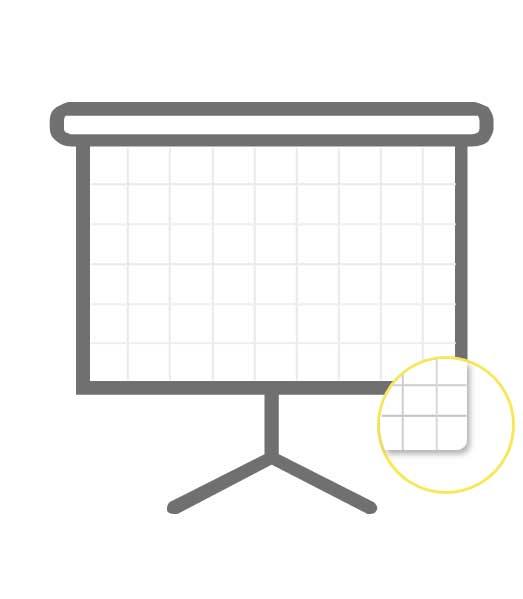 Blok Flip Chart • 20 listový • štvorčekovaný • 10×10 mm