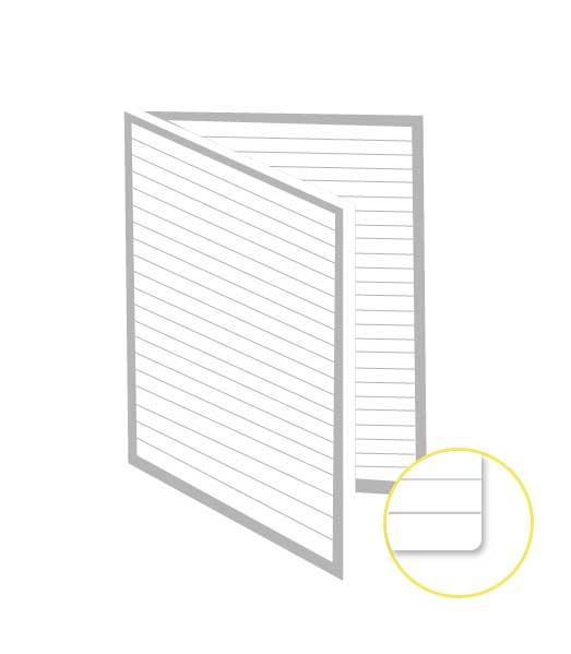 Skladaný dvojhárok • 200 listov • linkovaný 8 mm