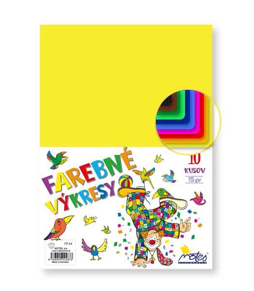Farebné papiere • 10 listov • 125g/m2