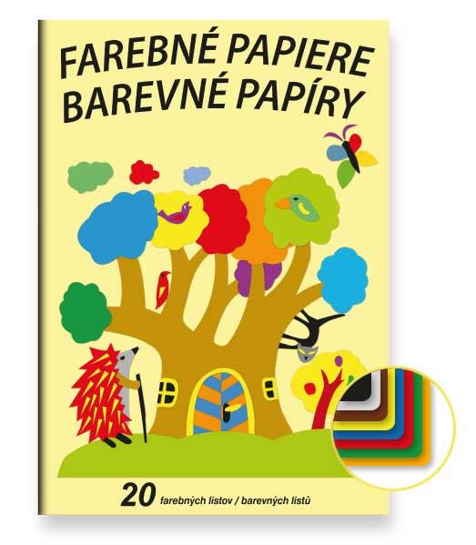 Farebný papier FP20 • 20 listov • Ježko