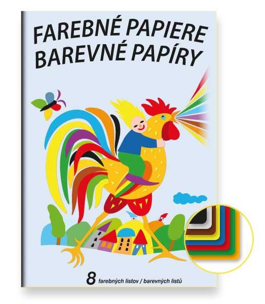 Farebný papier • FP8 • 8 listov • Kohútik