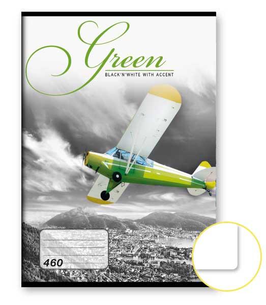 Zošit 460 • 60 listový • nelinkovaný • Green