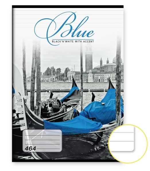 Zošit 464 • 60 listový • linkovaný 8mm • Blue