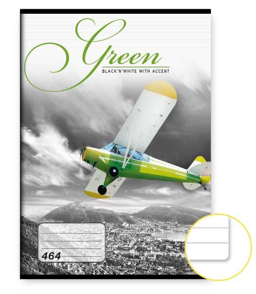 Zošit 464 • 60 listový • linkovaný 8mm • Green
