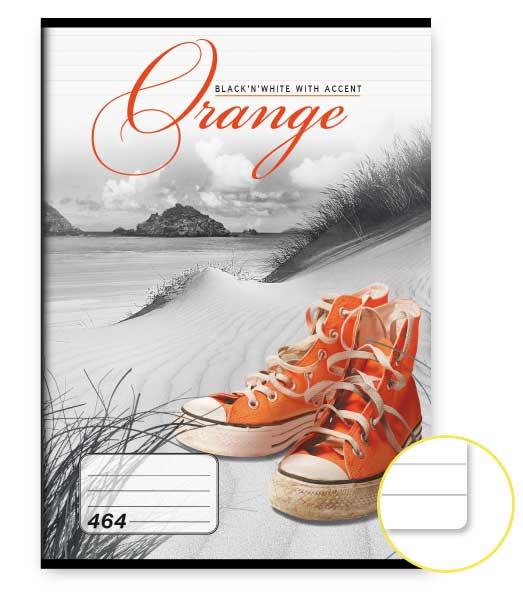 Zošit 464 • 60 listový • linkovaný 8mm • Orange