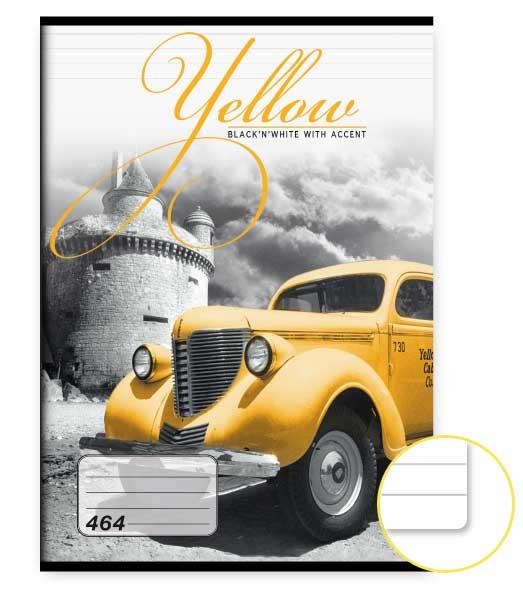 Zošit 464 • 60 listový • linkovaný 8mm • Yellow