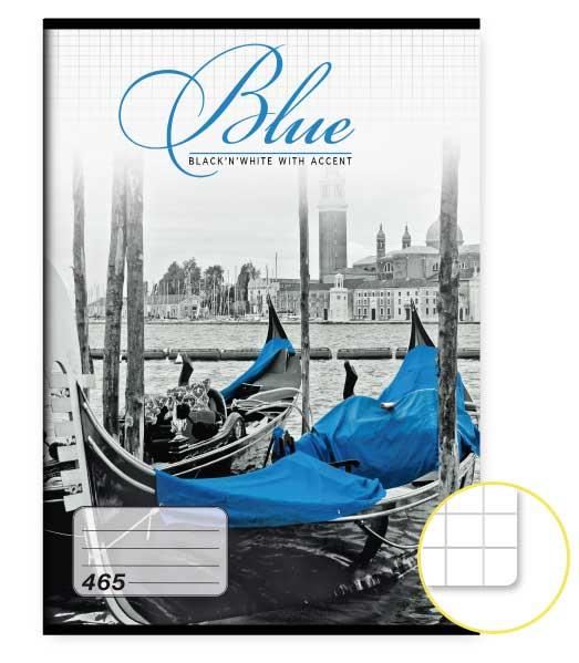 Zošit 465 • 60 listový • štvorčekovaný 5×5 mm  • Blue