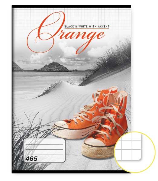 Zošit 465 • 60 listový • štvorčekovaný 5×5 mm  • Orange