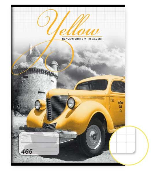 Zošit 465 • 60 listový • štvorčekovaný 5×5 mm  • Yellow
