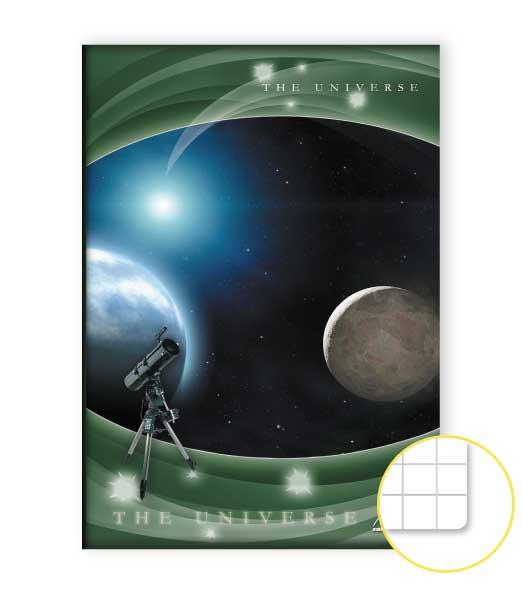 Zošit 485 • 80 listový • štvorčekovaný 5×5 mm  • Space