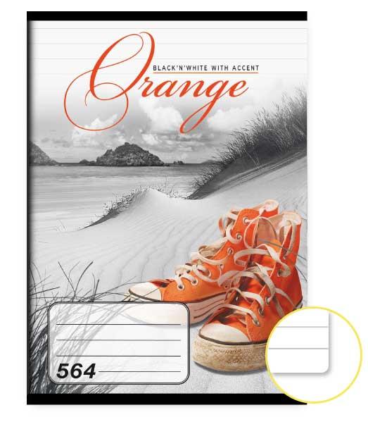Zošit 564 • 60 listový • linkovaný 8mm • Orange