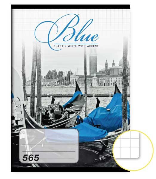 Zošit 565 • 60 listový • štvorčekovaný 5×5 mm  • Blue
