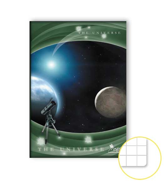 Zošit 585 • 80 listový • štvorčekovaný 5×5 mm  • Space