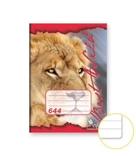 Zošit 644 • 40 listový • linkovaný 8 mm • ZOO Lev červený