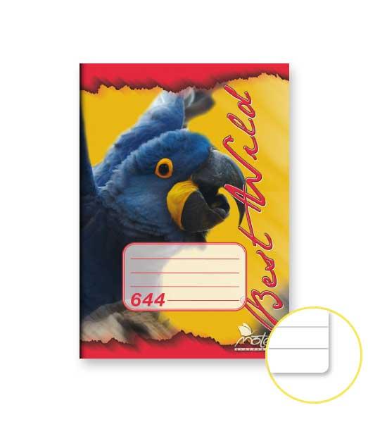 Zošit 644 • 40 listový • linkovaný 8 mm • ZOO Papagáj červený