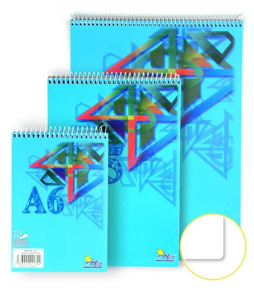 Špirálový blok • 70 listový • nelinkovaný • ORNAMENT