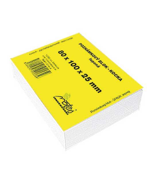 Poznámková kocka L8010025/B • z bieleho papiera • lepená malá