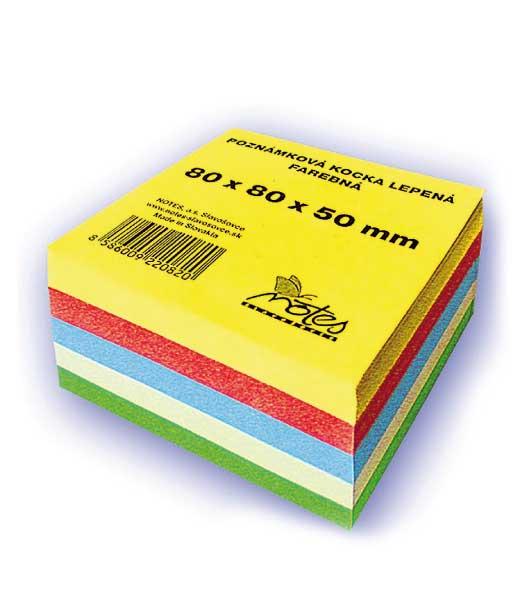 Poznámková kocka L808050/5F • z farebných papierov • lepená malá