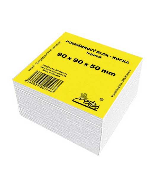 Poznámková kocka L909050/B • z bieleho papiera • lepená veľká
