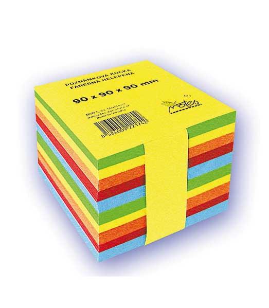 Poznámková kocka N909090/5F • z farebných papierov • nelepená NN