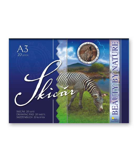 Skicár S32 • 20 listový • NATURE • Zebra