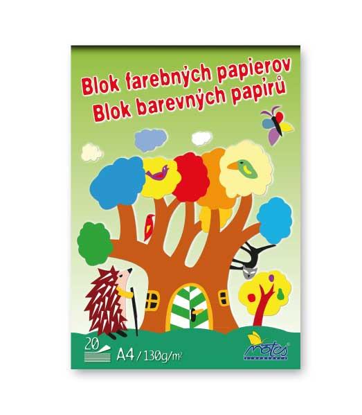 Blok FP42 • farebných papierov • 20 listový • Ježko