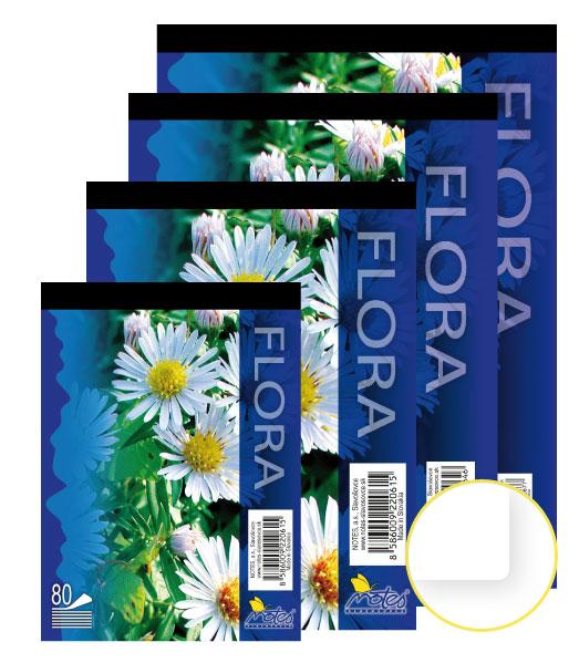 Poznámkový blok • 80 listový • nelinkovaný • FLÓRA