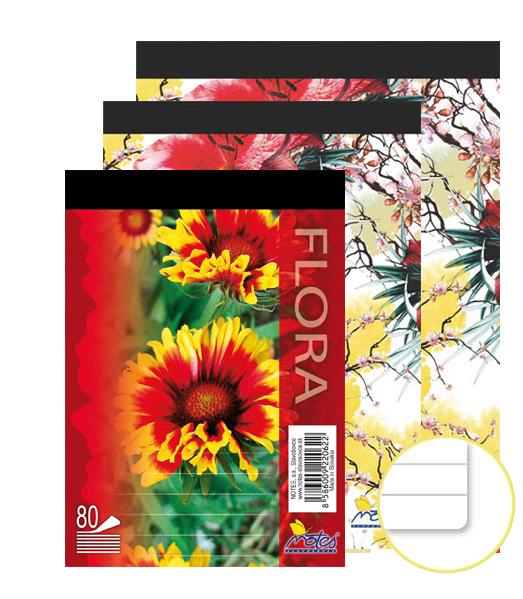 Poznámkový blok • 80 listový • linkovaný 8 mm • FLÓRA