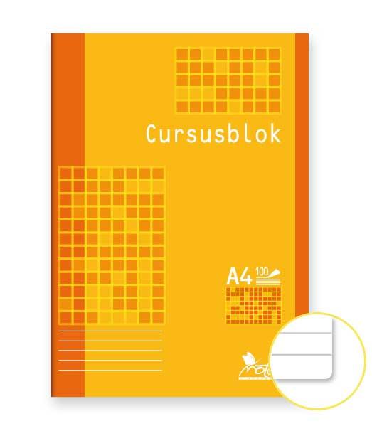 Poznámkový blok • 100 listový • linkovaný • CURSUSBLOK
