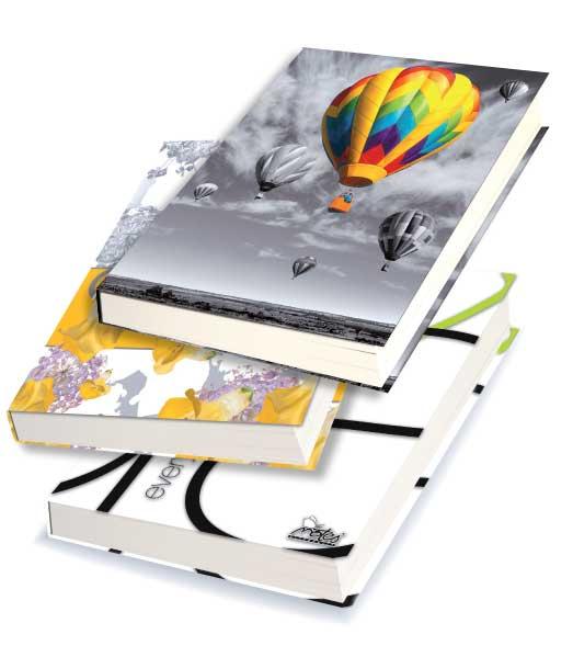 Záznamová kniha • 144 listová • linkovaná 8 mm • MIX DIZAJNOV