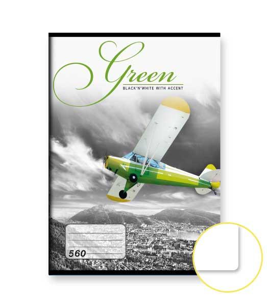 Zošit 560 • 60 listový • nelinkovaný • Green