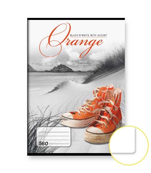 Zošit 560 • 60 listový • nelinkovaný • Orange
