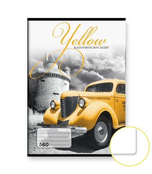 Zošit 560 • 60 listový • nelinkovaný • Yellow