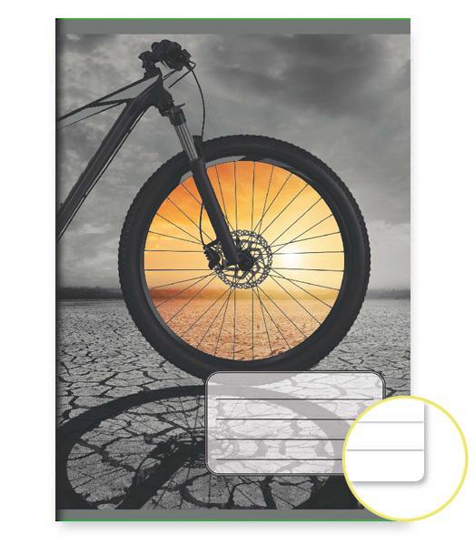 Zošit 444 EXTRA – 40 listový – linkovaný 8 mm s okrajom – Cyklo