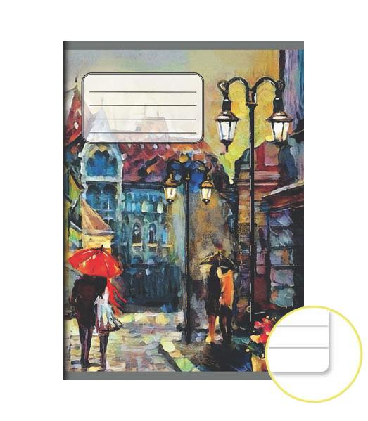 Zošit 544 EXTRA – 40 listový – linkovaný 8 mm s okrajom – Maľba
